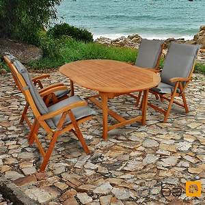 Niedriglehner Auflagen Set : gartenm bel set 9 teilig sun flair mit auflagen premium grau ~ Buech-reservation.com Haus und Dekorationen