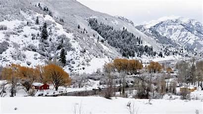 Scenery Winter Wallpapers Desktop Landscape Background Wallpoper