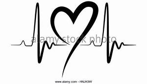 Heartbeat Line Black And White | www.pixshark.com - Images ...