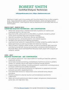 Health Care Assistant Resume Dialysis Technician Resume Samples Qwikresume
