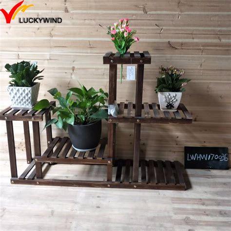 antique wooden  tier plant standwooden shelves  flowers buy  tier plant standwooden
