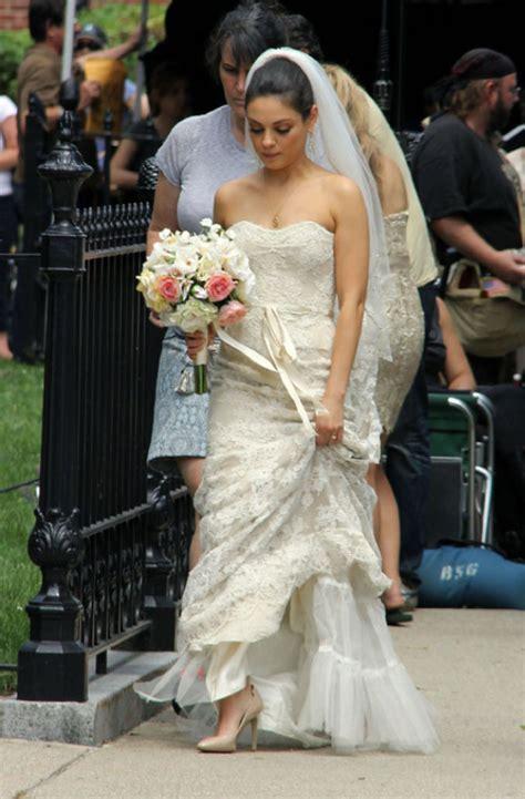 wedding dress designer  mila kunis  ted wedding