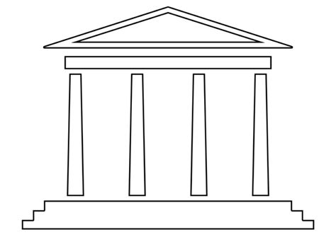 Tempel Kleurplaat kleurplaat tempel afb 22529