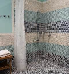 Image of: Doorless Walk Shower Photo Photo Idea The Proper Shower Tile Designs And Size