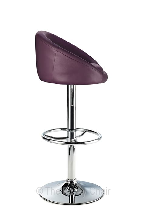 Pavia Breakfast Bar Stool In Black, Brown, Cream, Orange