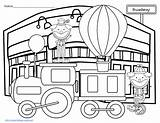Parade Thanksgiving Macy Coloring Broadway Balloons sketch template