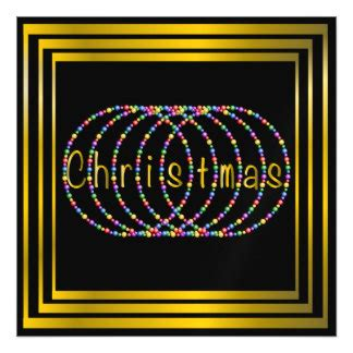 black and gold christmas lights black and gold christmas invitations announcements zazzle