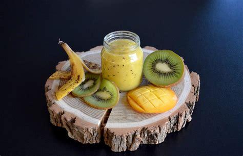 cuisiner une truite recette de petit pot compote kiwi mangue banane pour bébé