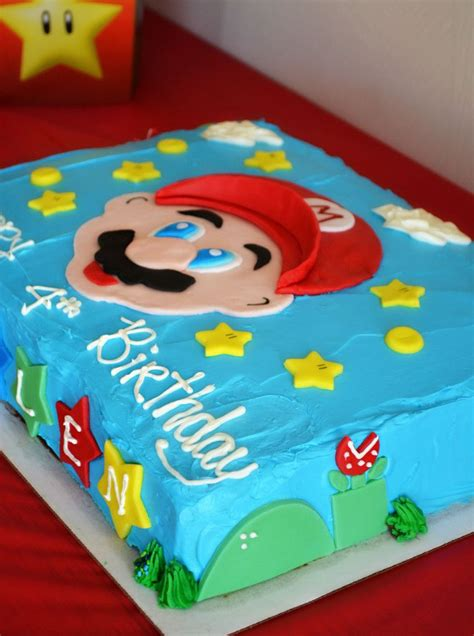 Super Mario Cake Mario Birthday Cake Super Mario