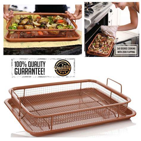 copper grill sheet mesh crisper pan baking air tray oven fryer crisping nonstick exclusive seller