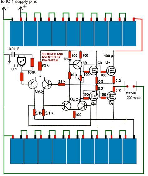 How Make Watt Transformerless Inverter Circuit