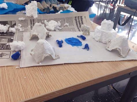 como aser un polar maqueta taller el deshielo de nuestros glaciares ecoideas