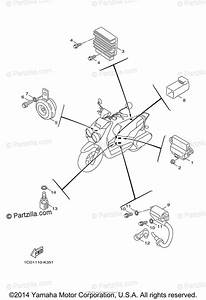 Yamaha Scooter 2014 Oem Parts Diagram For Electrical