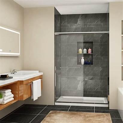 Sliding Shower Doors Bypass Glass Frameless Double