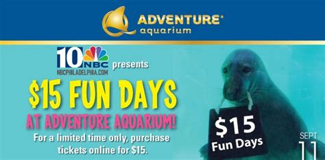 s coupon 15 adventure aquarium tickets
