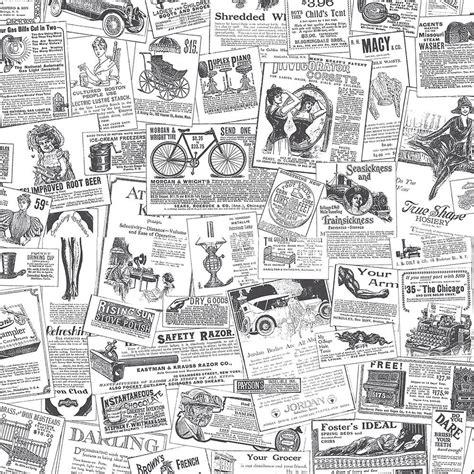 Home Design Newspaper by Norwall Newspaper Wallpaper Bk32083 The Home Depot