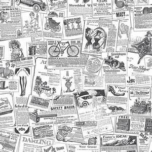 Norwall Newspaper Wallpaper