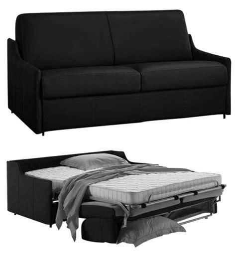 canapé lit pour studio canapé lit gain de place en cuir de vachette nouveau