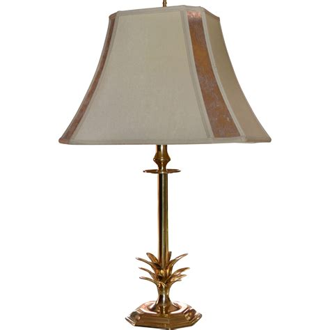 mica shade table l stylized brass pineapple table l w mica l shade