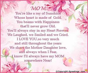 Happy Mothers Day Poems from Daughter and Son, Short ...