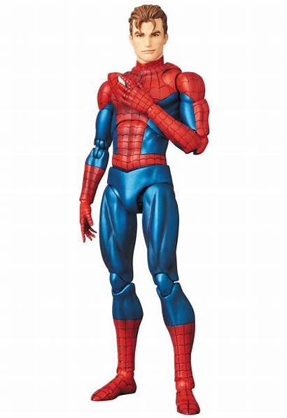 Mafex Spider Comic Version Marvel Unmasked Figure