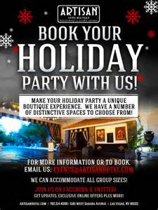 book your holiday party with us artisan hotel