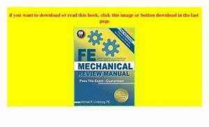Fe Mechanical Review Manual   Download  P D F
