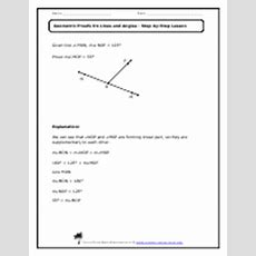 Geometric Proofs On Lines And Angles Worksheets