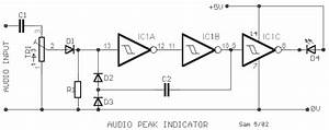 how to build audio peak indicator circuit diagram With peak level indicator