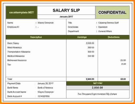 employee payslip template technician salary slip