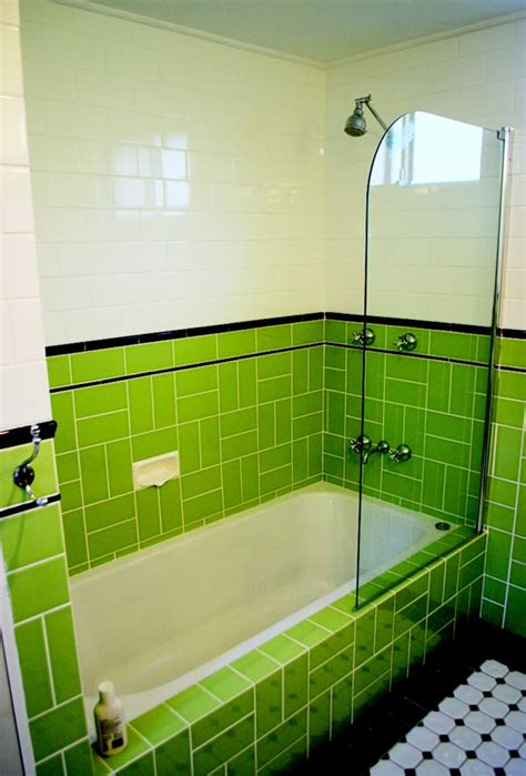 art deco green bathroom tiles ideas  pictures