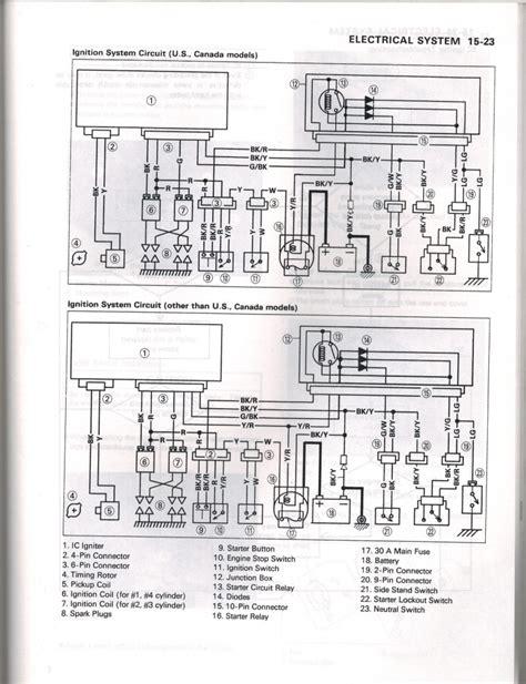 2006 kawasaki zzr600 wiring diagram wiring library