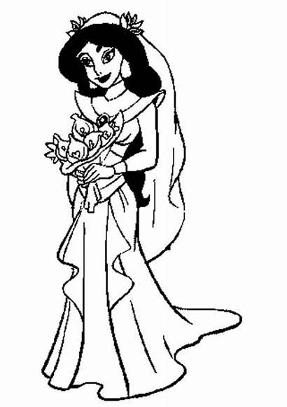 Jasmine Coloring Princess Disney Marvelous Elegant Entitlementtrap