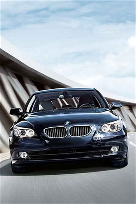 Bmw 5 Series Sedan Backgrounds by Iphone Bmw 5 Series Sedan 550i On Road Free Wallpaper