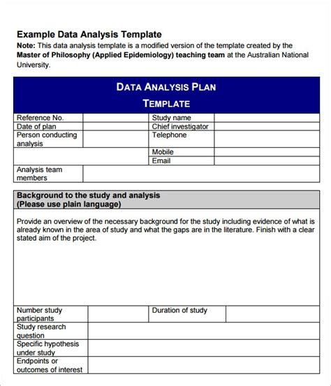 data analysis samples  excel google docs ms word pages