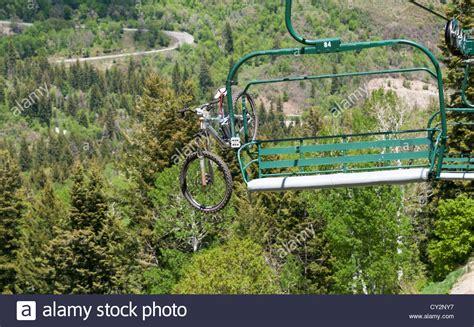 utah sundance resort summer mountain bike loaded on