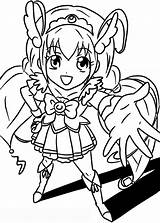 Glitter Force Coloring Pages Sheets Cure Colouring Printable Precure Pretty Happy Doki Sketch Anime Template Manga Team Visit Ak0 sketch template