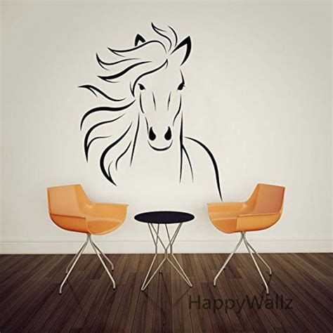 Amazoncom Large Animal Run Horse Mustang Wall Decal