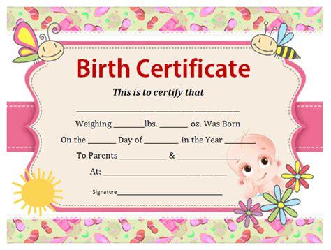 birth certificate online template birth certificate template office templates online