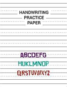 handwriting practice paper writing  learning abc