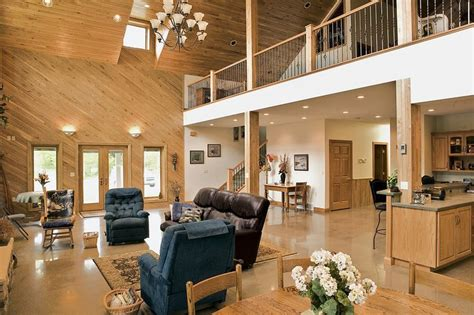 pole barn home interior 345 best images about barndos on metal homes