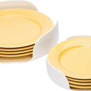 camco stack  plate dish organizer   dish organization plates kitchen dishes