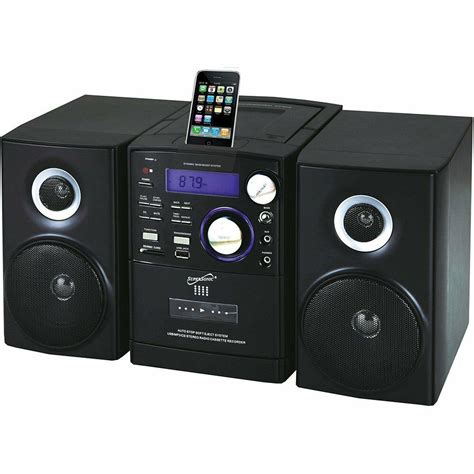 cd player mp3 supersonic sc805 portable mp3 cd player w 30 pin ipod dock