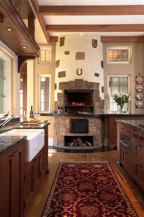 chimney in kitchen design 25 fabulous kitchens showcasing warm and cozy fireplaces 5394