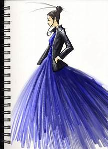 Fashion Sketch in Blue | Clothing sketches | Pinterest ...