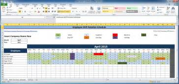 Excel Spreadsheet For Scheduling Employee Shifts by Color Coded Year Calendar Template Calendar Template 2016