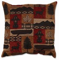 Pillow Perfect Lodge Throw Pillow, 18-Inch, Re…