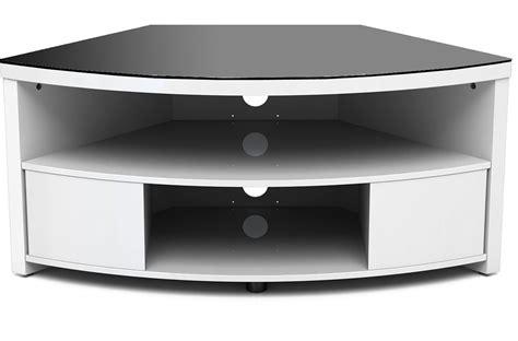 Furniture White Corner Tv Stand With Black Glass Cabinet