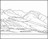 Coloring Mountain Mountains Pages Nature Rocky Scene Maui Drawing Printable Drawings Clip Lahaina Lady Pdf Popular sketch template