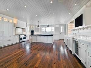 Kitchen Flooring - Reclaimed Oak - Contemporary - Hardwood